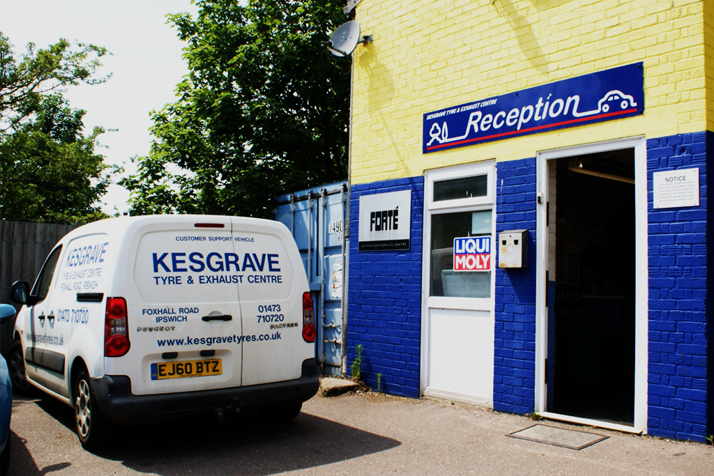 MOT test being completed Kesgrave Tyre and Exhaust Centre